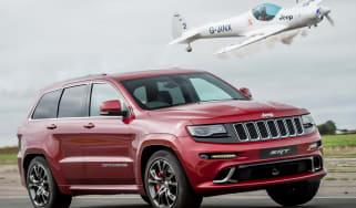Jeep Grand Cherokee SRT8 vs plane - header