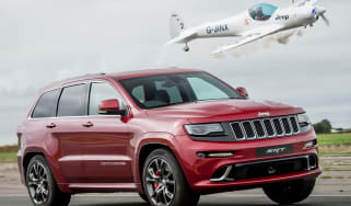 Jeep Grand Cherokee SRT8 vs plane - header