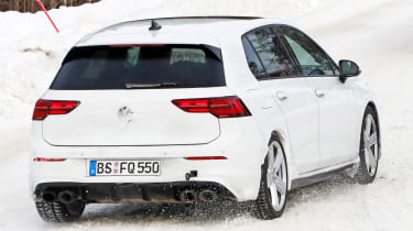 2020 Volkswagen Golf R - minimal disguise - frear 3/4 tracking