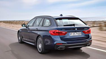 New BMW 5 Series Touring - rear/side