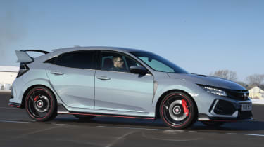 Honda Civic Type R tracking front