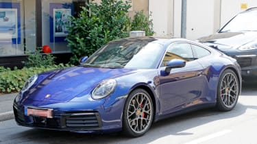 Next generation Porsche 911 parked