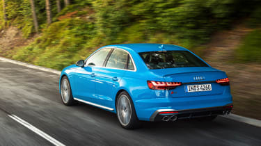 2019 Audi S4 saloon rear tracking