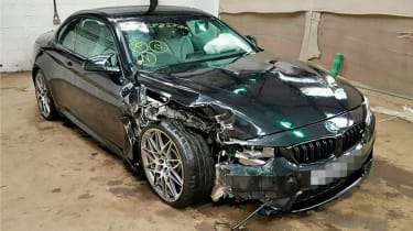 crashed bmw m4