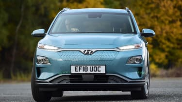 Hyundai Kona Electric - front cornering