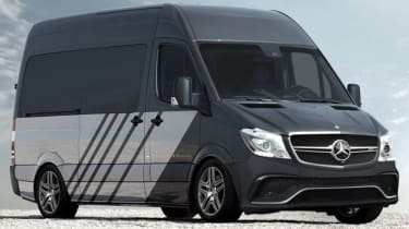 Mercedes claimed it was planning a 503bhp panel van with a twin-turbo V8 for April Fools' Day 2015.