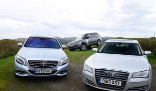 Mercedes S-Class vs Range Rover vs Audi A8 video