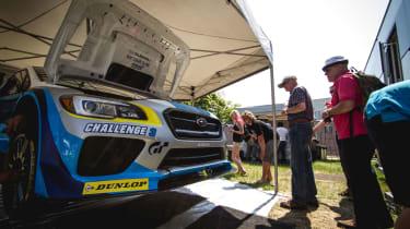Subaru WRX STI - Isle of Man TT pits