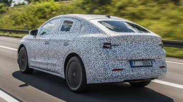 Skoda Enyaq iV coupe prototype - rear tracking