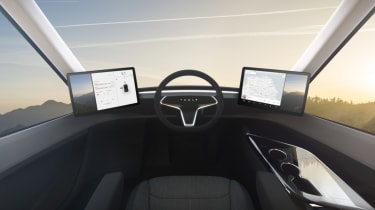 Tesla lorry - electric truck revealed - seat position