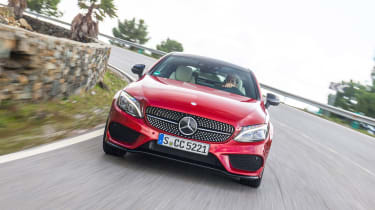 Mercedes C-Class Coupe front end