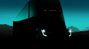 Tesla lorry - electric truck revealed - teaser image