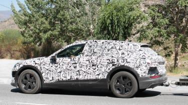 Audi e-tron spy shot side