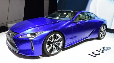 Lexus LC500h - Geneva show front/side