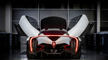 Vanda Dendrobium electric hypercar - rear doors open