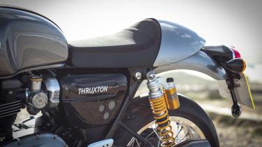 Triumph Thruxton R review - seat wide view
