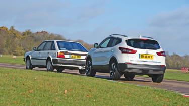 Nissan Bluebird vs Nissan Qashqai - rear