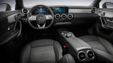 New Mercedes A-Class - studio cabin