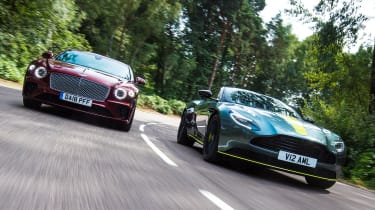 Aston Martin DB11 AMR vs Bentley Continental GT - header