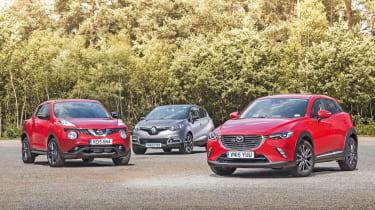Mazda CX-3 vs Renault Captur vs Nissan Juke