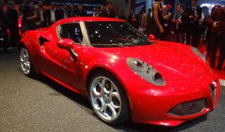 Alfa Romeo 4C front three quarters at Geneva Motor Show