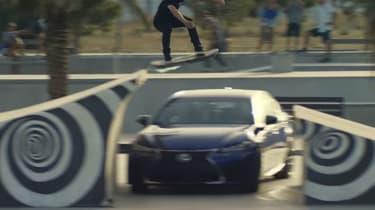 Lexus hoverboard - hover saloon shot