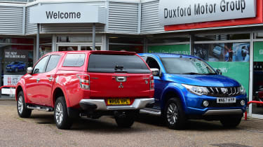 Mitsubishi L200 long termer - fourth report side-by-side