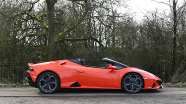 Lamborghini Huracan Evo Spyder - roof down