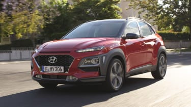 Hyundai Kona - red front