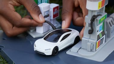 Matchbox carbon neutral Tesla Roadster