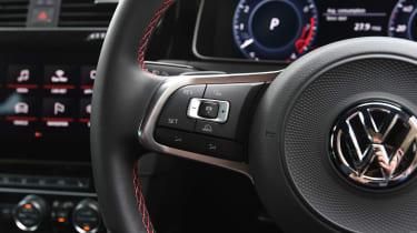 Volkswagen Golf GTI - steering wheel detail left
