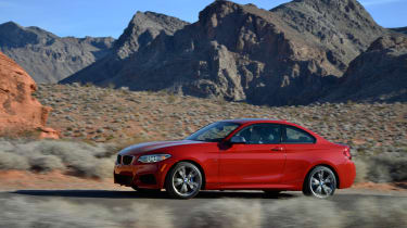 BMW M235i 2014 side desert