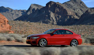 BMW M235i 2014 side desert