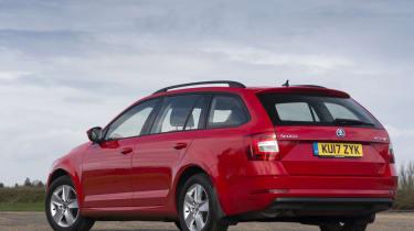 Skoda Octavia Estate 2017 facelift rear