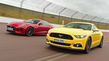 Ford Mustang vs Jaguar F-Type - front