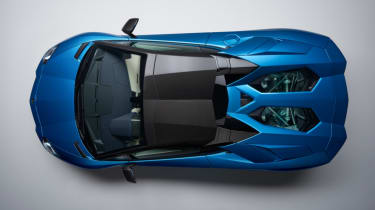 Lamborghini Aventador S Roadster - top - roof up