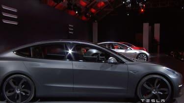 Tesla Model 3 grey side