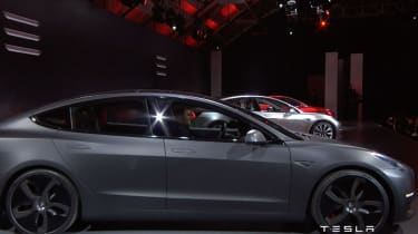 Tesla Model 3 grey side