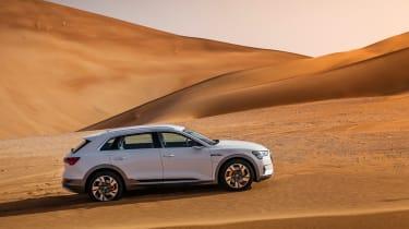 Audi e-tron side on