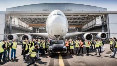 Porsche Cayenne pulls Airbus A380