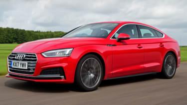 Twin test - Audi A5 - front quarter action