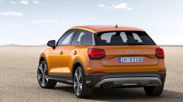 Audi Q2 orange rear again