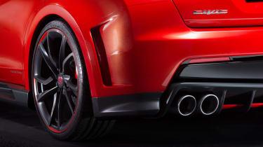 New Honda Civic Type R concept exhaust