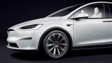 Tesla Model X facelift - front detail