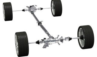 Car differential powertrain layout
