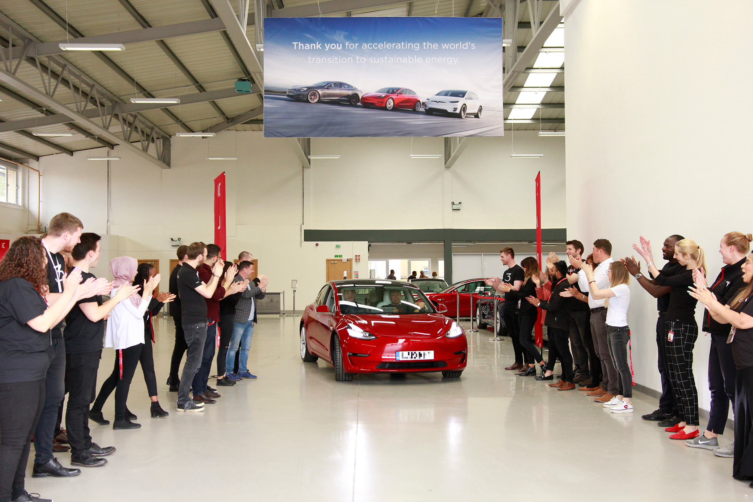 First Tesla Model 3 UK deliveries take place   Auto Express