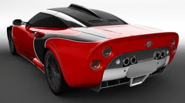 Spyker C8 Aileron - red rear