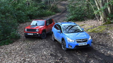 Subaru XV vs Jeep Renegade - static