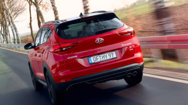 Hyundai Tucson N Line - rear tracking