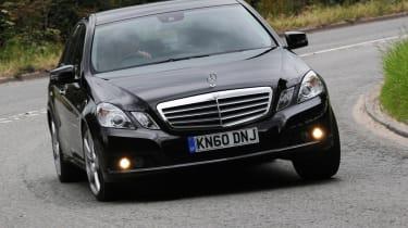 Mercedes E220 CDI SE front cornering